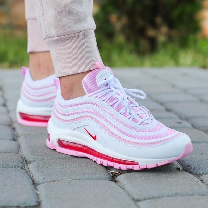 Шикарные женские кроссовки nike 97 в розовом цвете (весна-лето...