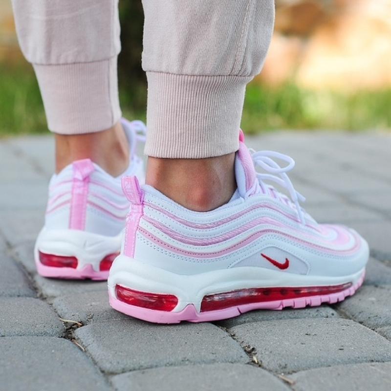 Шикарные женские кроссовки nike 97 в розовом цвете (весна-лето... - Фото 2