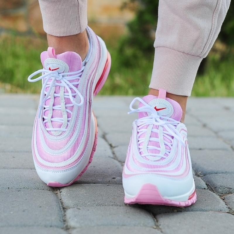 Шикарные женские кроссовки nike 97 в розовом цвете (весна-лето... - Фото 4
