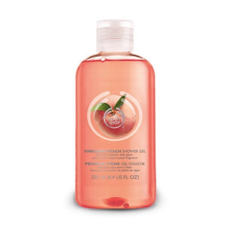 Гель для душа «персик» the body shop vineyard peach shower gel