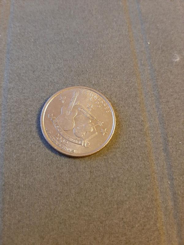 25 центов США 2002 Теннеси