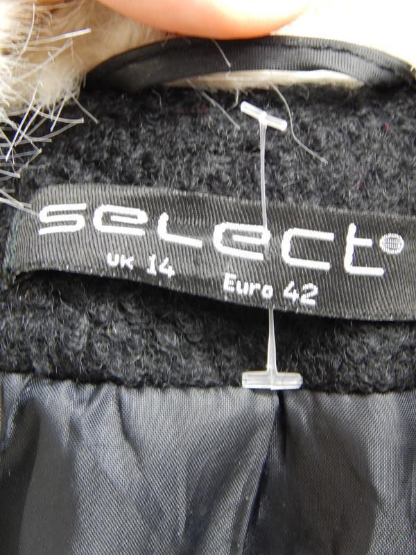 Весеннее шерстяное пальто с меховым воротником и манжетами - Фото 4