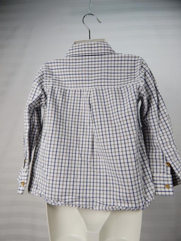 Легкая рубашка в клеточку на мальчика 3х лет - Фото 2