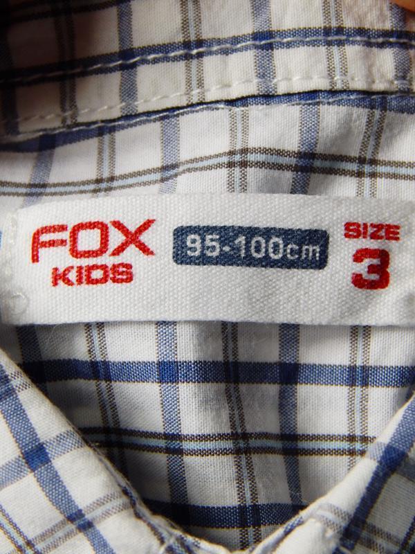 Легкая рубашка в клеточку на мальчика 3х лет - Фото 3
