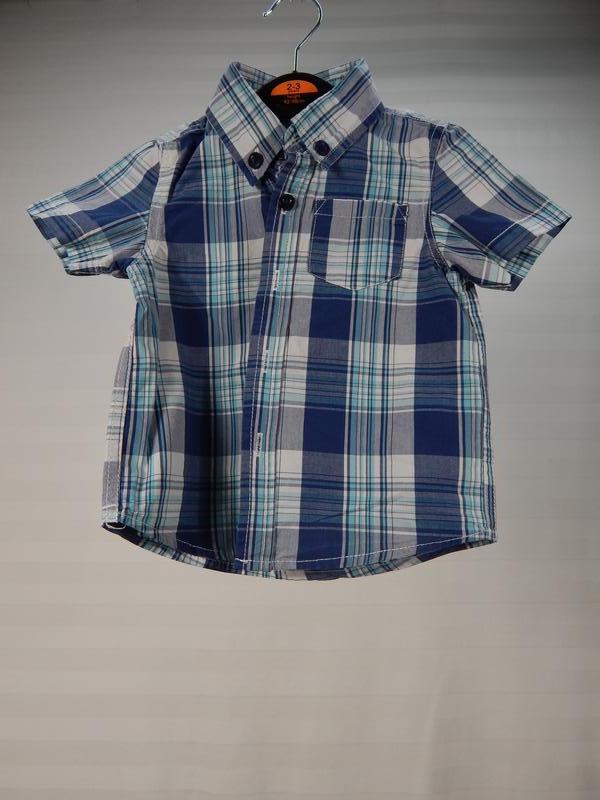 Рубашка в клетку для малыша 12 месяцев