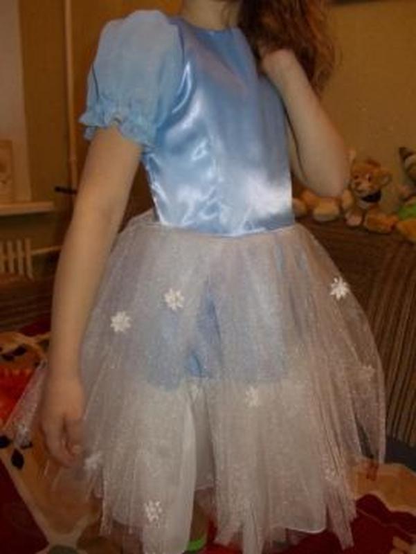 Платье нежно-голубое р.116-122