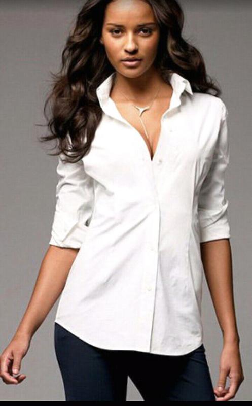 Белая блуза, блузка, рубашка на пуговицах Hennes Collection