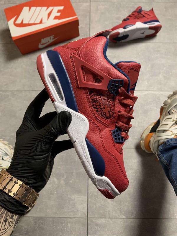 🔥 Nike Air Jordan 4 Retro Red Blue