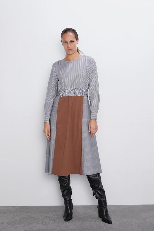 Новое платье из комбинированных тканей - Фото 9