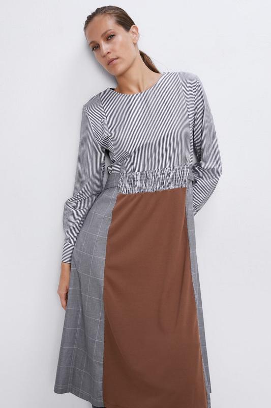 Новое платье из комбинированных тканей - Фото 6