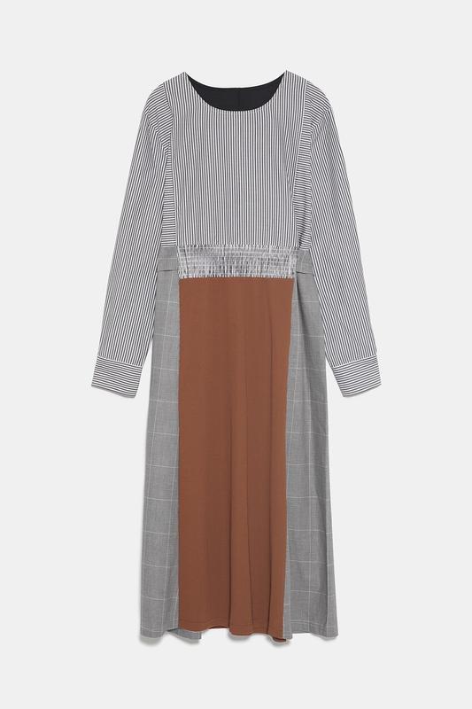 Новое платье из комбинированных тканей - Фото 5