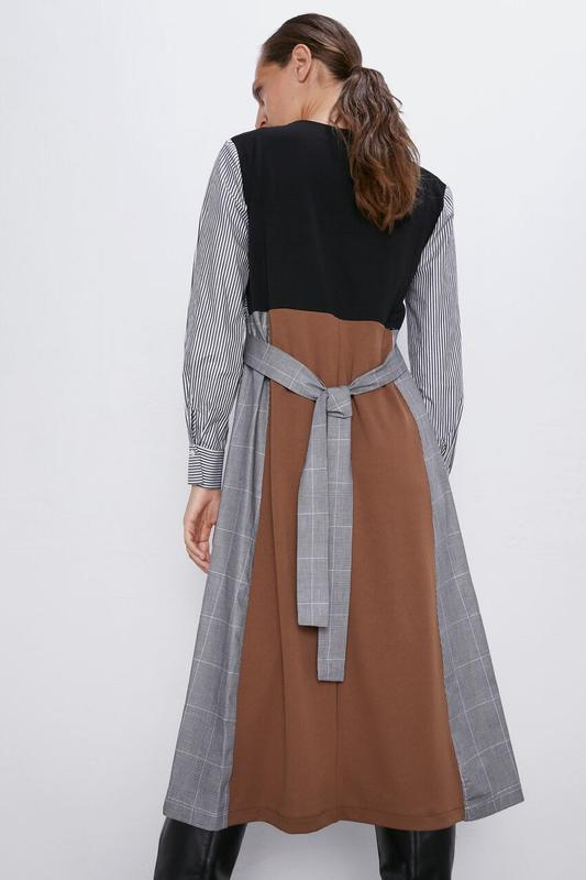 Новое платье из комбинированных тканей - Фото 8