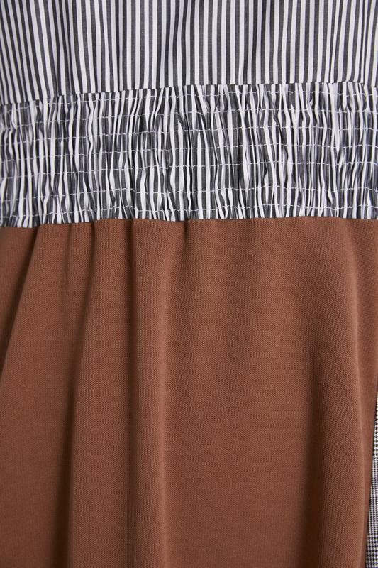 Новое платье из комбинированных тканей - Фото 7