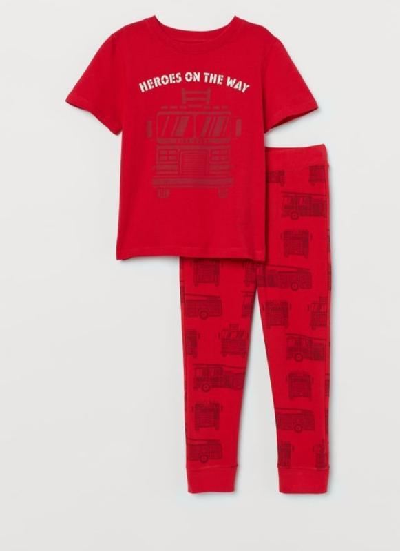 Летний хлопковый костюм h&m для мальчика 2-4