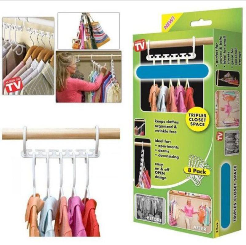 Набор вешалок для одежды Wonder Hanger 8 шт Лучшая цена! - Фото 4