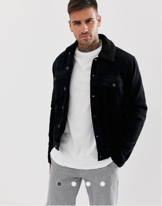Вельветовая куртка из короткой шерсти