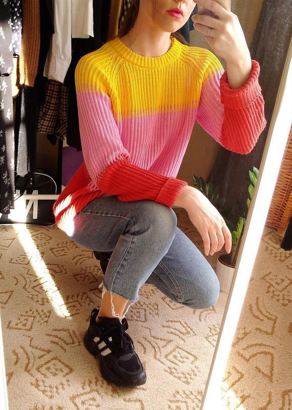 Лёгкий весенний свитер из хлопка