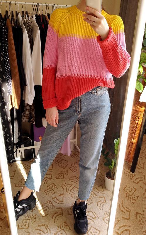 Лёгкий весенний свитер из хлопка - Фото 4