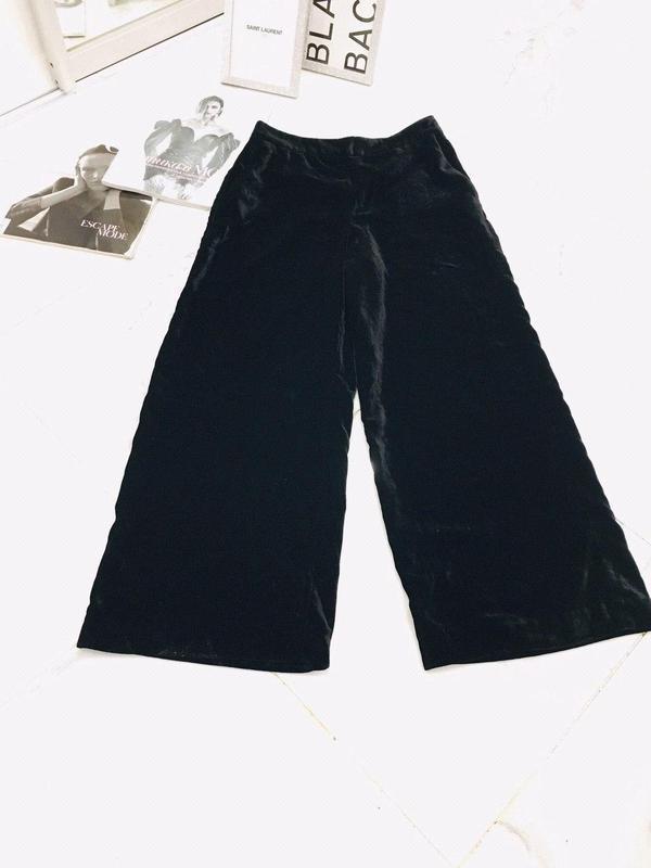 Zara basic прямые бархатные брюки базовая коллекция из велюра ... - Фото 6