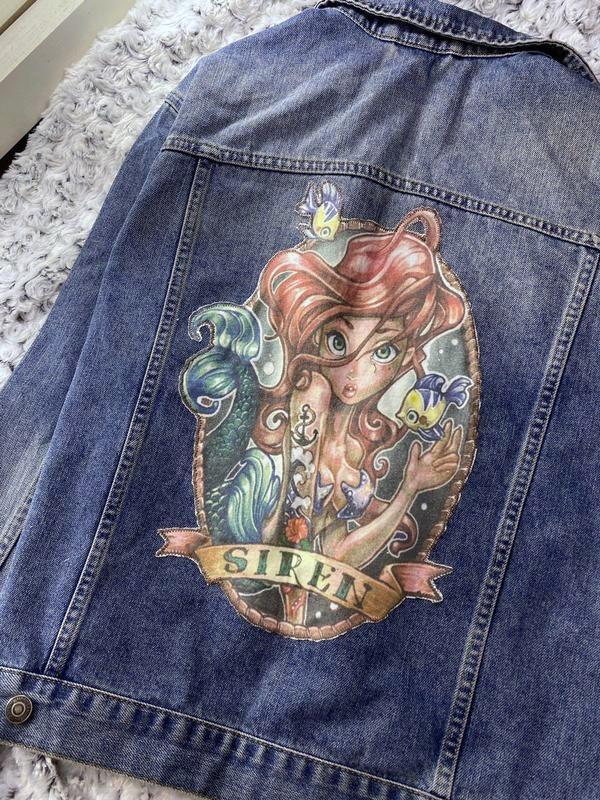 Джинсовая куртка, джинсовка с нашивкой topshop - Фото 3