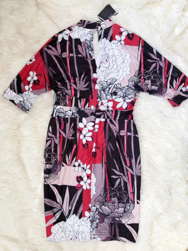 Новое с биркой миди платье-футляр на запах phase eight размер 50 - Фото 6