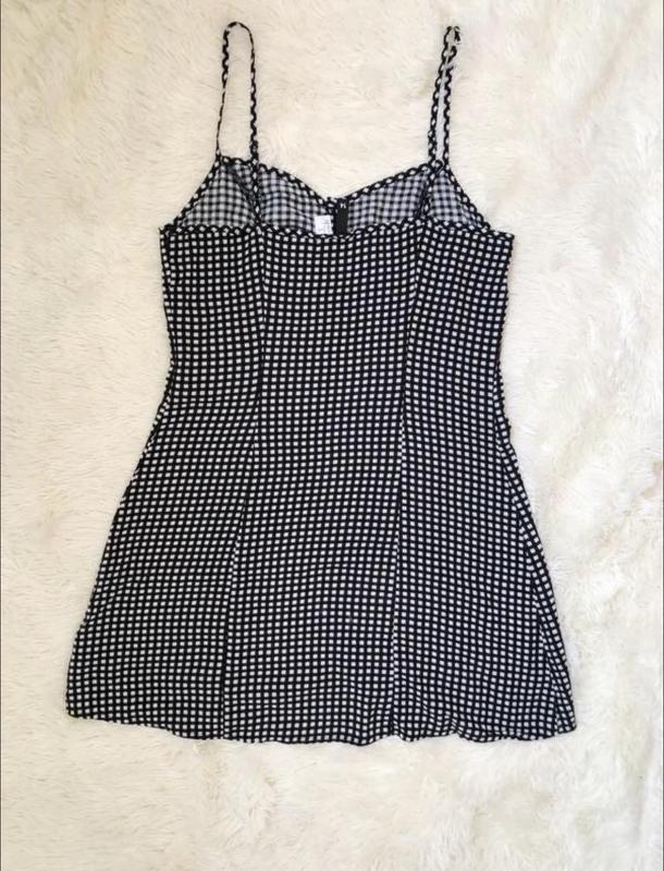 Трендовое платье сарафан в клетку с пуговицами h&m размер 50 - Фото 4
