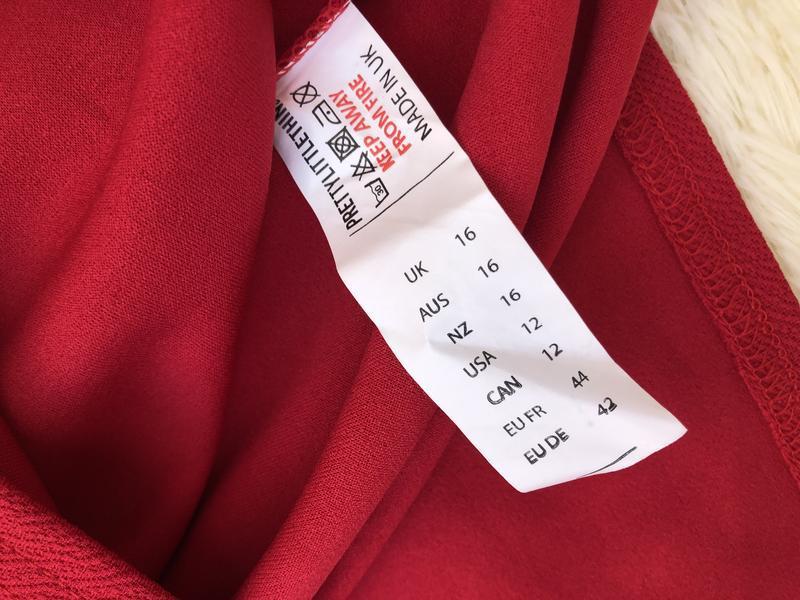 Новое с биркой шикарное красное платье prettylittlething - Фото 6
