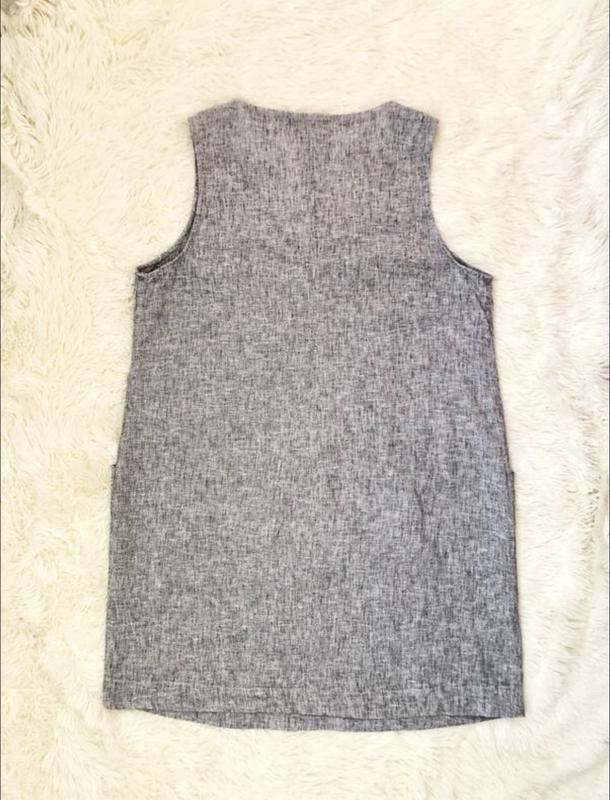 Серое льняное платье new look большой размер 56 новая коллекция - Фото 7