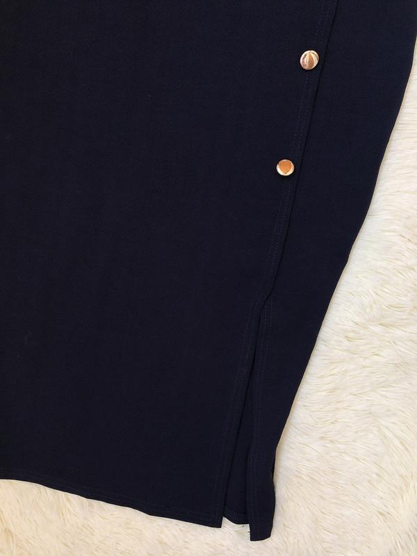 Темно синее платье миди по фигуре boohoo размер 46 - Фото 4