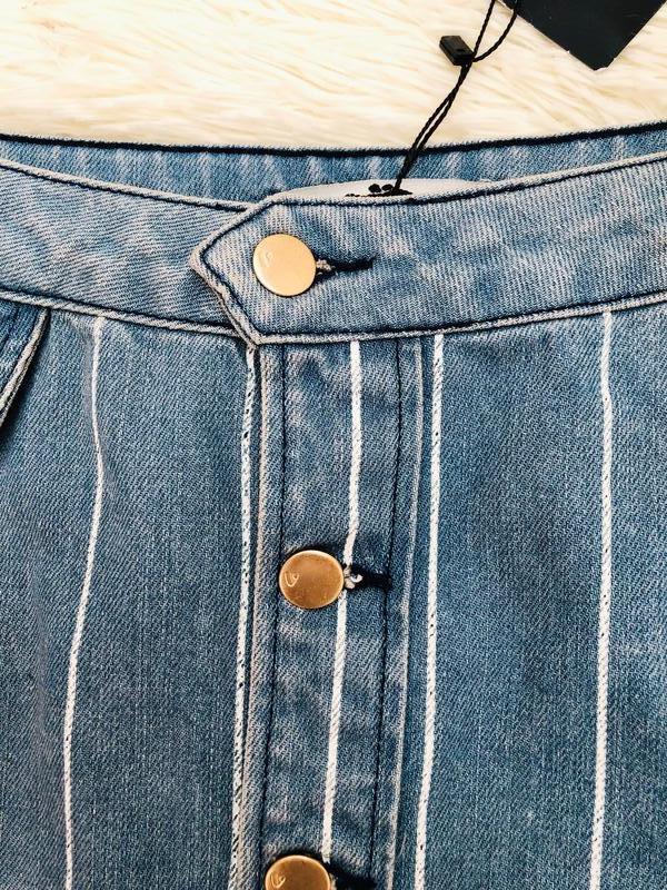 Новая с биркой джинсовая юбка в полоску с пуговицами by very р... - Фото 3
