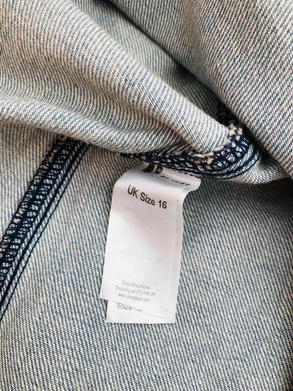 Новая с биркой джинсовая юбка в полоску с пуговицами by very р... - Фото 5