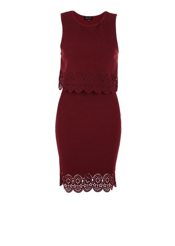Новое с биркой бордовое марсала платье new look размер 48