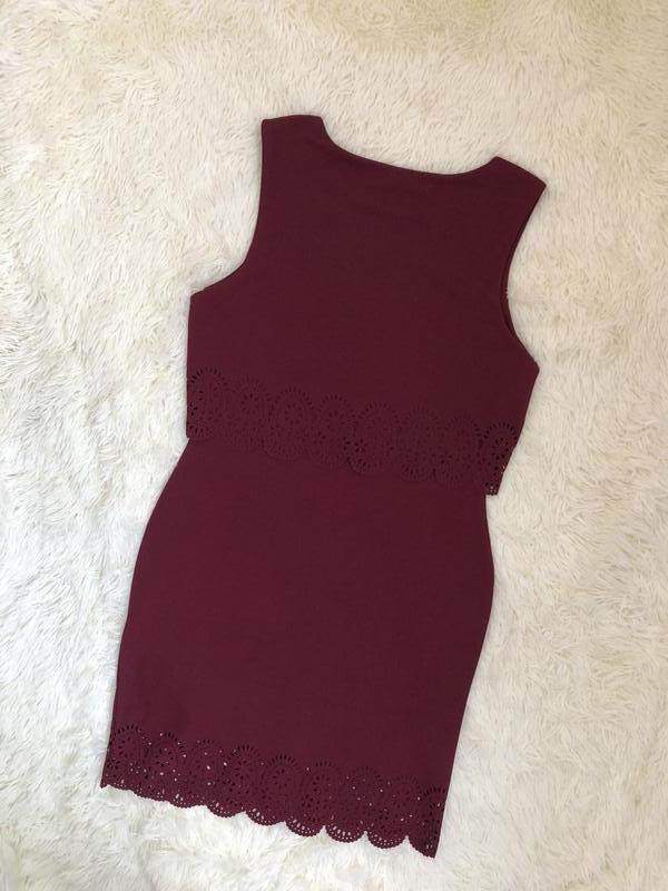 Новое с биркой бордовое марсала платье new look размер 48 - Фото 3