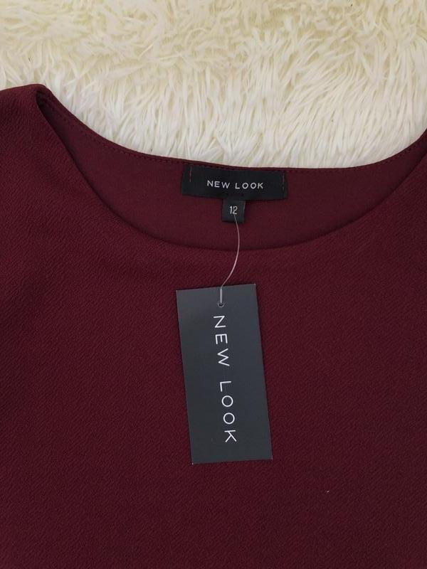 Новое с биркой бордовое марсала платье new look размер 48 - Фото 4