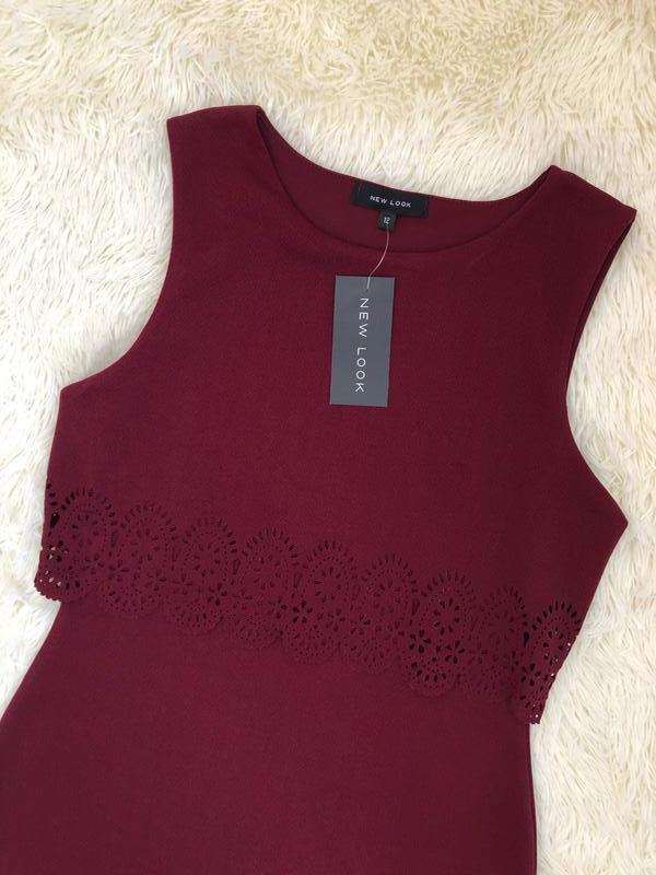 Новое с биркой бордовое марсала платье new look размер 48 - Фото 5