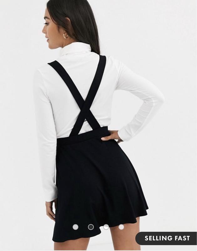 Новая с биркой чёрная юбка сарафан на пуговицах asos новая кол... - Фото 3