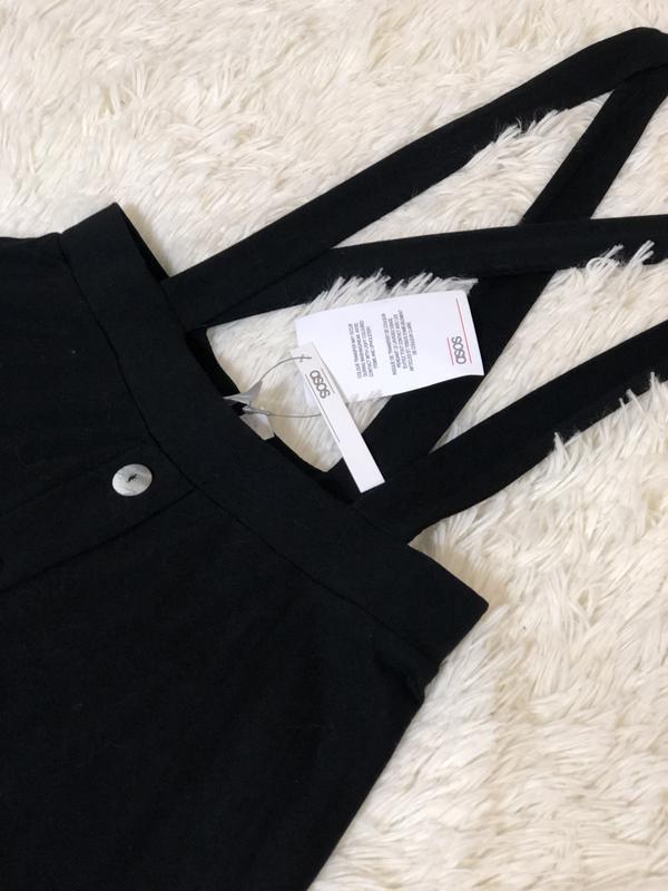 Новая с биркой чёрная юбка сарафан на пуговицах asos новая кол... - Фото 7
