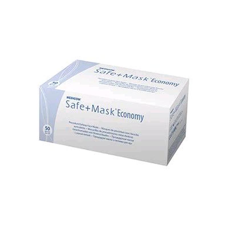 Маска защитная, голубая, 3-х слойная на резинках, 50 шт Safe+Mask - Фото 4