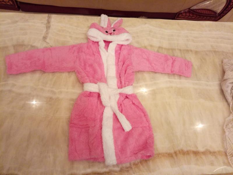 Детский махровый халат для девочки. подарок для девочки