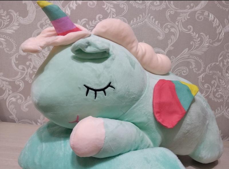 Игрушка подушка эдинорог и плед. подарок ребёнку.