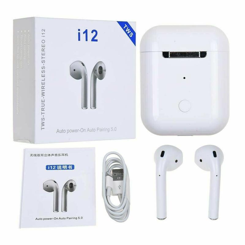 Новые Беспроводные сенсорные Bluetooth наушники i12 TWS