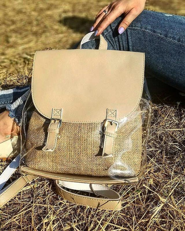Молодежный силиконовый рюкзак с косметичкой 🎒