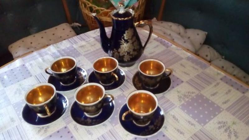Сервиз кофейный: кобальт с позолотой, СССР