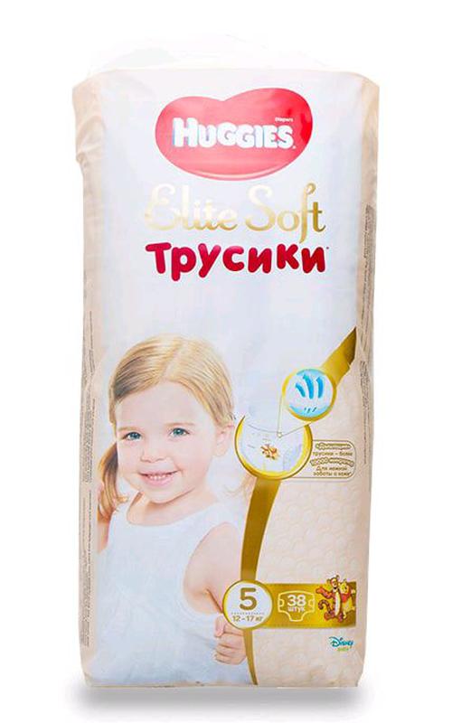 Подгузники HUGGIES трусики Элит софт 5р.38 шт