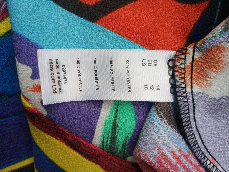 Стильная  блуза, топ  asos с ярким принтом - Фото 5