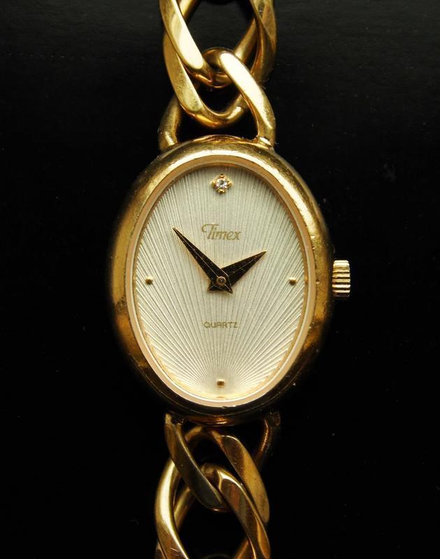 Timex овальные винтажные часы из сша с камнем сборка philippines