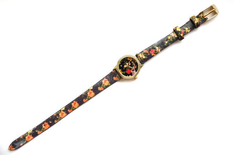 Decree часы из сша с красивыми цветочками механизм japan - Фото 3
