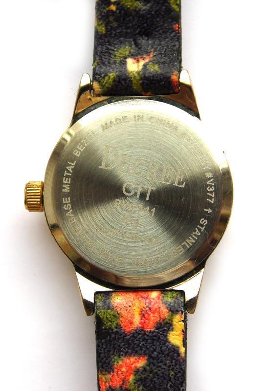 Decree часы из сша с красивыми цветочками механизм japan - Фото 4