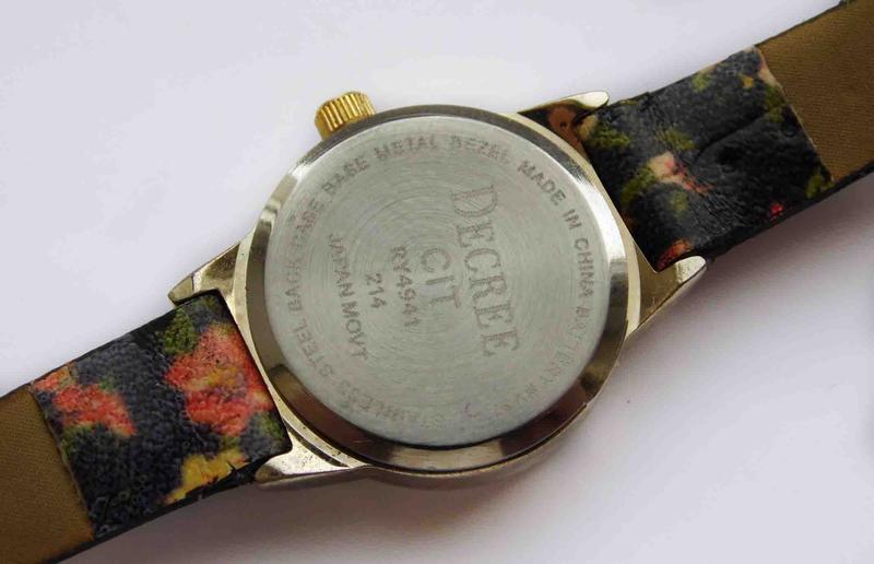 Decree часы из сша с красивыми цветочками механизм japan - Фото 5