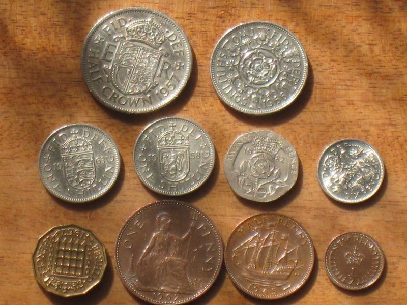 Монеты Великобритании - 10 шт.